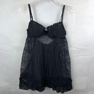 Victoria's Secret Black Lace Babydoll Size 36C